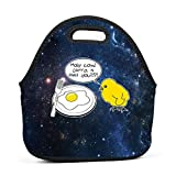 LOGvvl Lunch Tote Creative Holy Cow Larry Is That You Chick Egg Graphic Lunch Bag for Adult and Kids - Idea for Beach, Picnics, Road Trip, Meal Prep,Daily, Everyday Lunch to Work or School