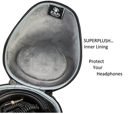 Audio-Technica ATH-M50x Professional Monitor Headphones + Slappa Full Sized HardBody PRO Headphone Case (SL-HP-07) - Image 8