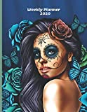 Weekly Planner 2020: Blue Calavera Gifts For Men & Women | Sugar Skull Weekly Planner Appointment Book Diary Organizer | Day Of The Dead To Do List & Notes Sections | Calendar Views
