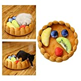 Gorgebuy Pets Nest - Dog Bed Warm Soft Cat Beds - Tarts Shape Cats Kennel with Adjustable Fruits Cushion for Lovely Puppy