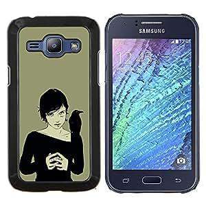 Queen Pattern - FOR Samsung Galaxy J1 J100 J100H - crown woman black witch art drawing magic - Cubierta del caso de impacto con el patr???¡¯???€????€??&sbqu