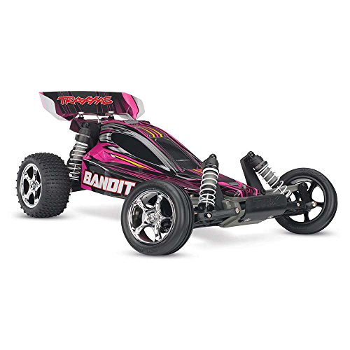 Rear Truggy Wing (Traxxas 24054-1 Bandit 1/10 Scale 2WD Off-Road Buggy with TQ 2.4GHz Radio, Pink)