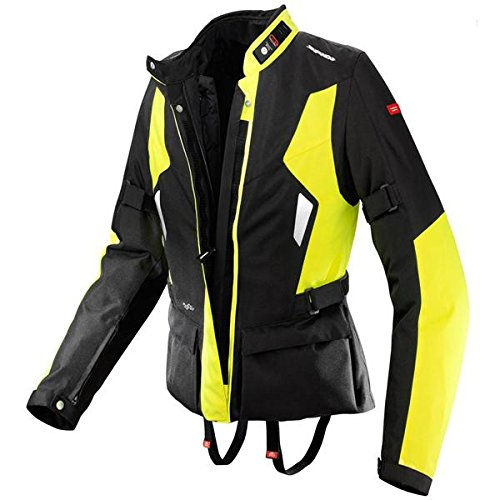 Jacket Textile H2out (Spidi Voyager H2Out Womens Black/Hi-Viz Yellow Textile Jacket - Medium)