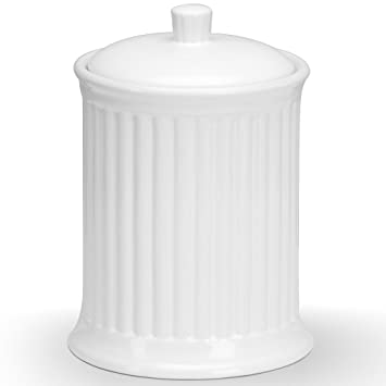 High Quality Omniware Simsbury White Stoneware Extra Large Canister