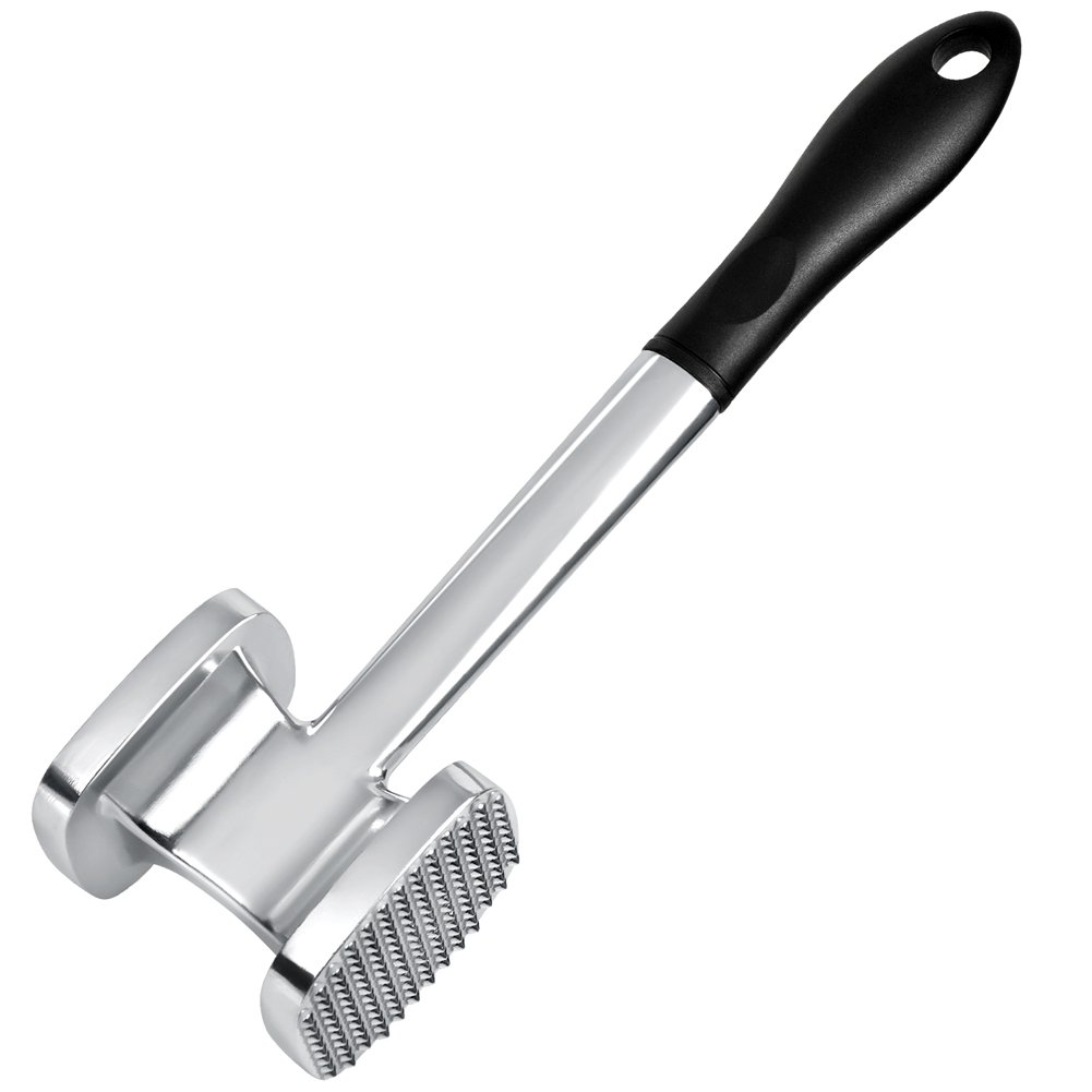 FBasics Meat Tenderizer Mallet Kitchen Meat Pounder mallet for Pounding and Tenderizing Meats, Heavy Duty Large Size.