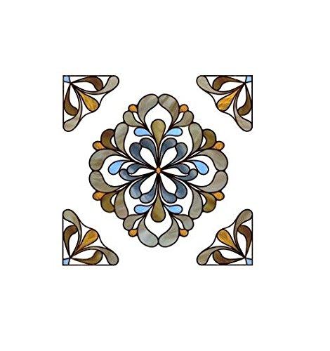 ARTSCAPE 02-3716 Capri Amber 12 in. X 12 in. Window Accent