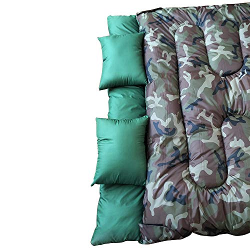 NTK KUPLE Double 2 in 1 Sleeping Bag with 2 Pillows and a Carrying Bag with Compressor Straps for Camping, Backpacking, Hiking. - Compressor Sack