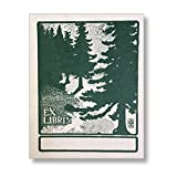 Saturn Press Handmade Letterpress Forest Bookplates, Garden Nature Made in the USA