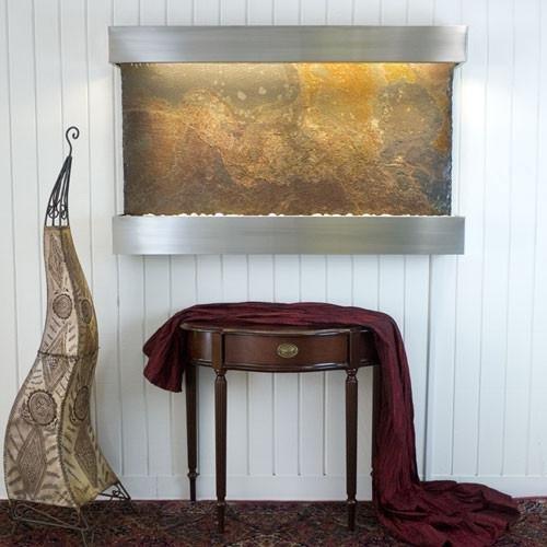 BluWorld Classic Quarry Horizontal Indoor Wall Fountain Raja Slate