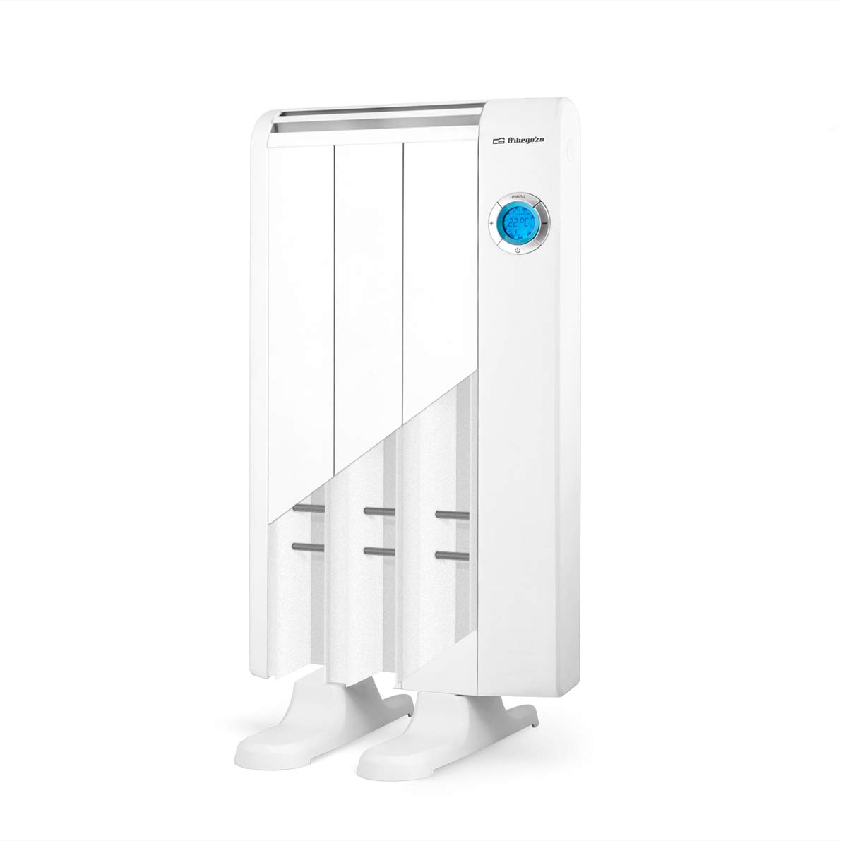 Mando a Distancia Aluminio Pantalla Digital LCD 1300 W Orbegozo Rre 1310 Emisor T/érmico Bajo Consumo 7 Elementos de Calor Blanco