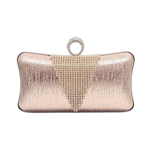 Bridesmaid Bride Rhinestone Wallets WENMW Bag Pattern Skin Parties Bag Clutch Elegant Ballroom PU Bag Messenger Champagne Wedding Shoulder Lady Bridal x0nwq8FAw