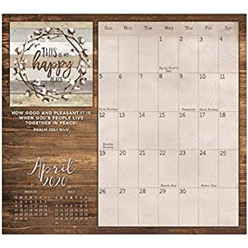 Legacy Publishing Group 2020 Magnetic Calendar Pad with Scripture, 9.37 x 8.37-Inches, Faith and Family