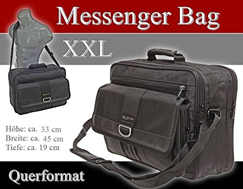 Trabajo–Bolso de vuelo compañero bolso business Messenger Bag Bolsa Negro