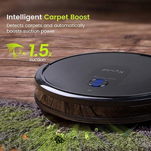 Kyvol Cybovac E30 Robot Vacuum Cleaner Smart Navigation, 2200Pa Strong Suction, 150 minutes Runtime, Robotic Vacuum Cleaner, Wi-Fi Connected, Works with Alexa, Ideal for Pet Hair, Carpets & Hard Floors