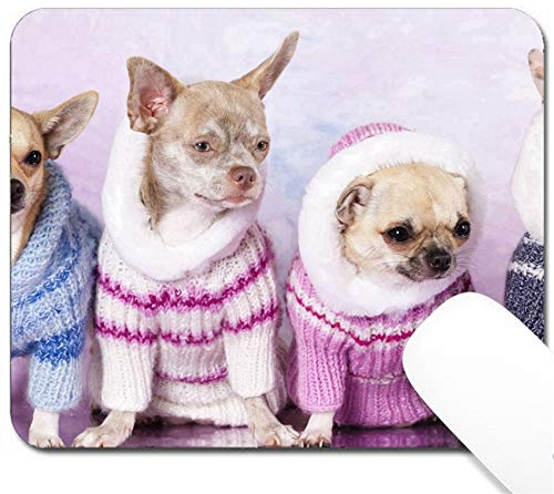 MSD Mouse Pad with Design - Non-Slip Gaming Mouse Pad - Image ID: 11814591 Chihuahua Dressed