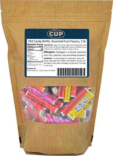 PEZ Candy Refills, Assorted Fruit Flavors, 2 Lb Resealable -