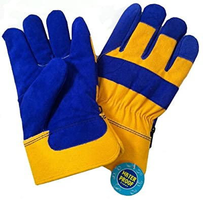 B.A.G.G. BLUE And YELLOW Waterproof Insulated WINTER Work Gloves - L