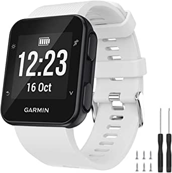 Ansblue Riem voor Garmin Forerunner 35 smartwatch, zachte siliconen vervangende fitnessband armband, sport polsband accessoire compatibel met Forerunner 35 Smartwatch multi color