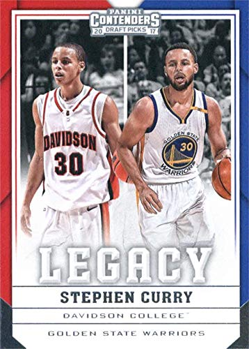Stephen Curry Basketball Card (Davidson, Golden State Warriors) 2017 Panini Contenders Legacy Draft Picks insert #30