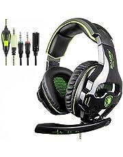 SADES SA810 Xbox One PS4 PC Gaming Headsets Kopfhörer, 3.5 mm Jack Gaming Headset Stereo Sound Over-Ear Kopfhörer mit Mikrofon Lautstärkeregelung