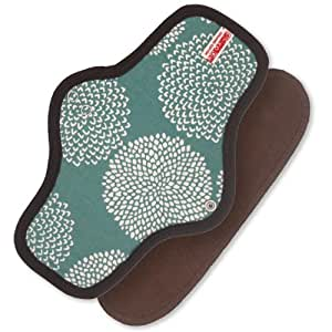 Sckoon Organic Cotton Cloth Menstrual Pads Reusable Type Snap-on Fireworks Teal