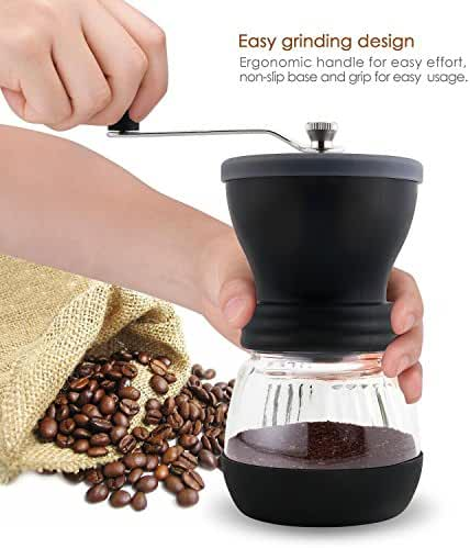 DECEN USATK62823 Coffee Grinder, Black