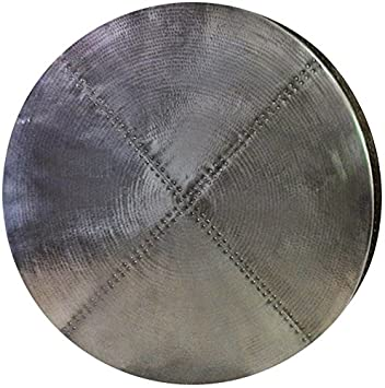 Round Zinc Table Top (hammered, 30u0026quot;)