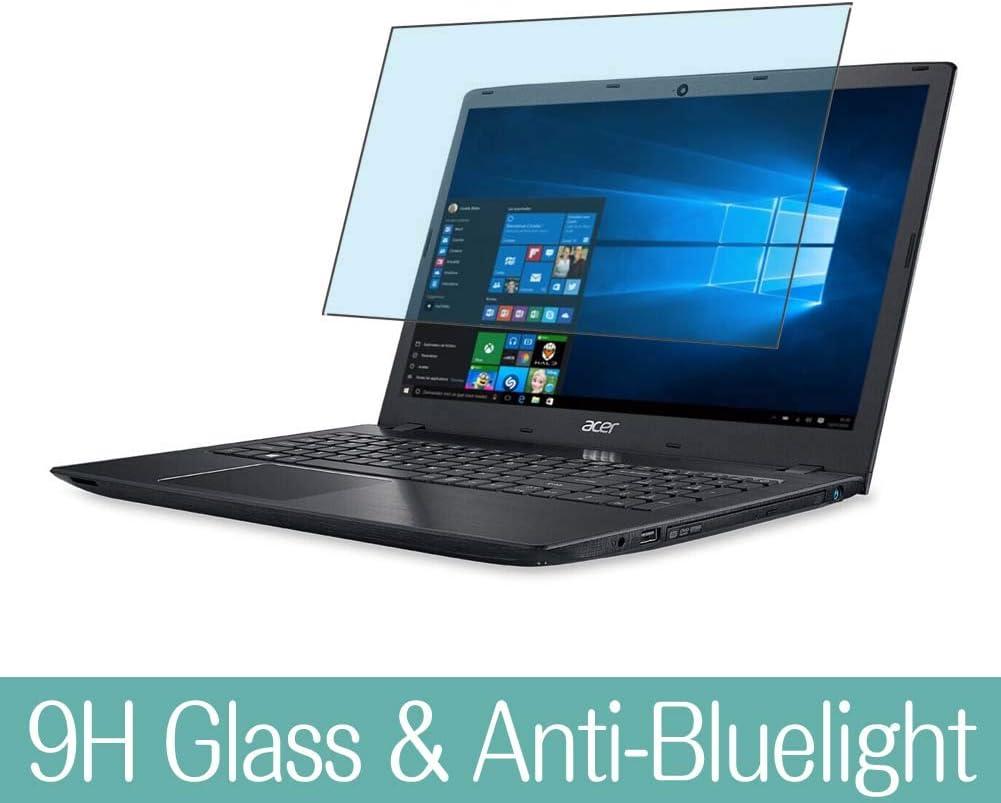 "Synvy Anti Blue Light Tempered Glass Screen Protector for Acer Aspire E5-521 / E5-521G / E5-522 / E5-522G / E5-523 / E5-523G 15.6"" Visible Area 9H Screen Film Protectors (Not Full Coverage)"