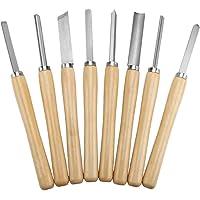 torno de madera juego tornitura, piezas de torno