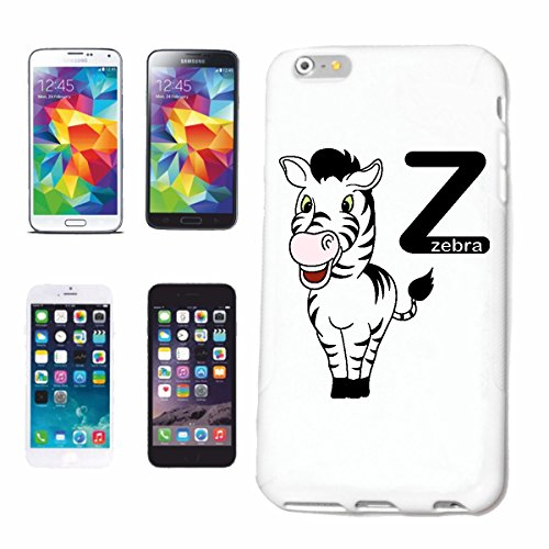 "cas de téléphone iPhone 7+ Plus ""Z AS ZEBRA ZEBRA MERRY Grevyzebra MOUNTAIN ZEBRA STEPPE ZEBRA HORSE WILD HORSE"" Hard Case Cover Téléphone Covers Smart Cover pour Apple iPhone en blanc"