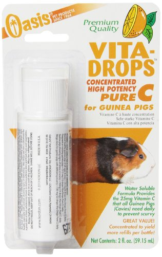 OASIS  #80254  Vita Drops-Pure C  for Guinea Pig, 2-Ounce, Packaging may vary
