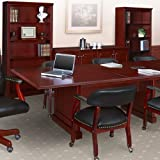 8 foot - 24 foot Traditional Conference Room Table, Boardroom Meeting Room Office, Mahogany Finish (20ft, Mahogany)