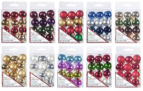 Darice Ornaments - Plastic - Solid - Assorted Colors - 25mm - 12 Pieces ()