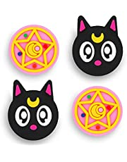 Owngen Cute Thumb Grip Caps for Nintendo Switch / Lite, Kawaii Magic Moon Joy-Stick Button Stick Cover 3D Analog Ergonomic Cap for NS Controller Joy-Cons (Luna)