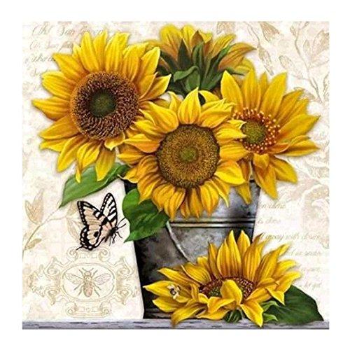 WinnerEco Embroidery Painting Cross Stitch, 5D Diamond Sunfl