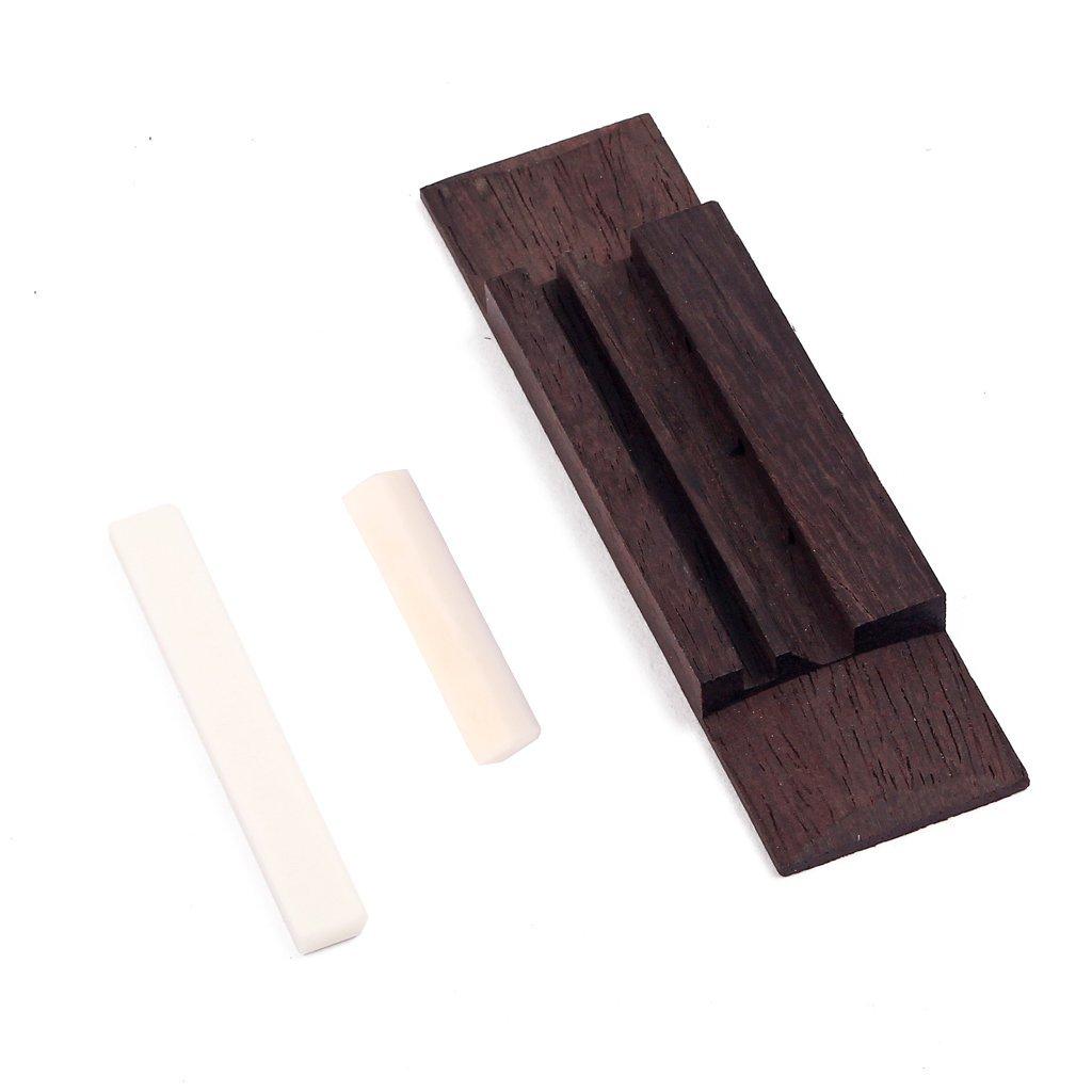 Ogquaton Puente de Palisandro con sill/ín de Hueso y Tuerca para Guitarra de 3 Cuerdas Cigar Box Rentable