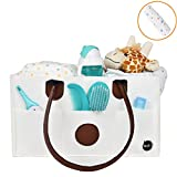 Crib with Changing Table on Left Trijax Diaper Caddy Organizer: Nursery Nappy Bag | Great Home, Car & Travel Organizer | Diaper Stacker For Changing Table | Diapers, Wipes, Toys, Bottle Carrier | FREE Baby Change Mat BONUS Included