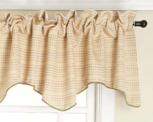 Stylemaster Valance - Stylemaster Tyler Lined Scalloped Valance with Cording, Spring, 50 by 17-Inch