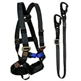 Fusion Climb Tactical Edition Kids Commercial Zip Line Kit Harness/Lanyard Bundle FTK-K-HL-02