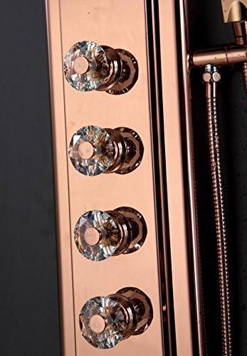 Zxy Hogar Baño ZXY Mampara de ducha Rose Gold cuatro interruptor ...