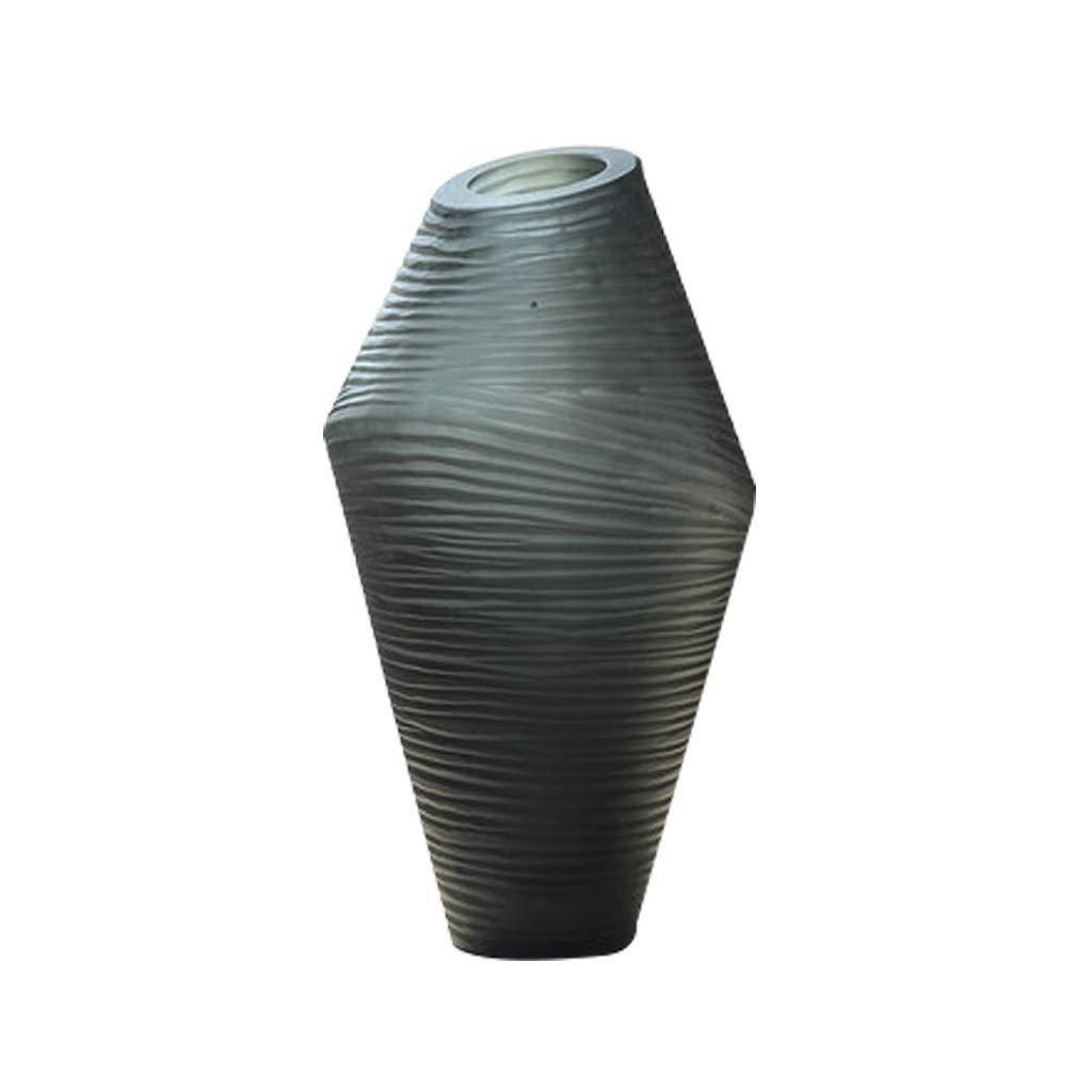 LIULIJUN セラミック花瓶装飾禅リビングルームポーチドライフラワーフラワーアレンジメント B07T33QGXV