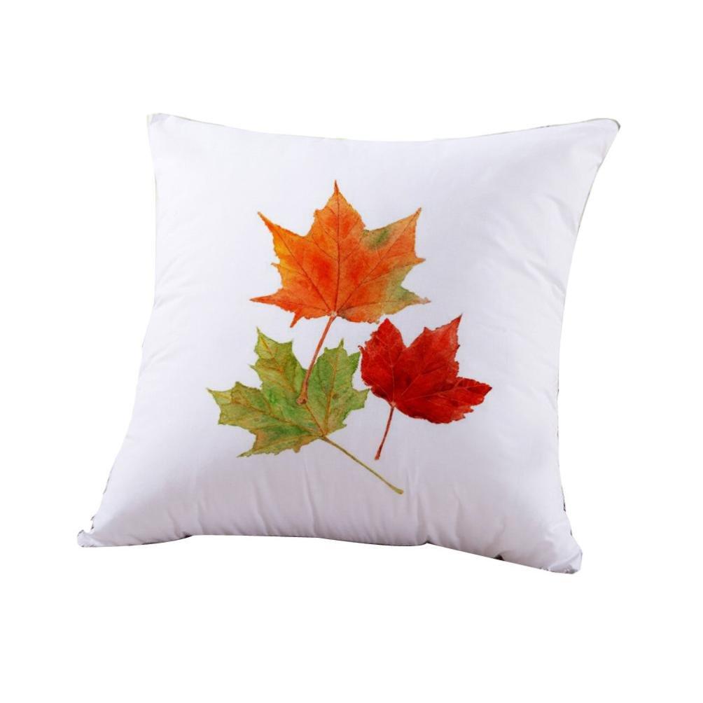 Elaco Fall Decorations Sofa Bed Home Decoration Throw Pillow Pumpkins Festival Pillow Case Cushion Cover,45cm45cm (C1)
