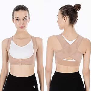 Posture Corrector for Women and Men - Posture Correction & Posture Support ,Fits Nice Under Clothes for Neck Shoulders and Back Neoprene Posture Trainer/Posture Back Brace ,Black
