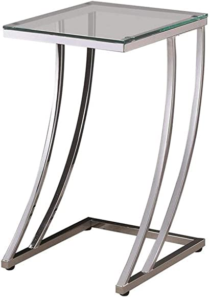 Coaster Furniture Rectangular Accent Chrome Snack Table