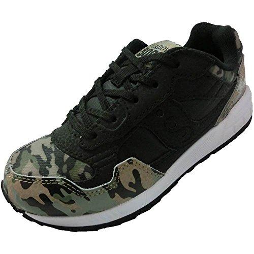 Saucony Scarpe Bambino Ragazzo Shadow 5000 Boys SC55562 Sneaker Lacci Nero Verde