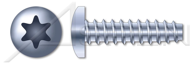 (10000 pcs) #5-20 X 1/4'', Plastite Alternative Thread Rolling Screws, Pan 6-Lobe Torx Drive, 48-2 Thread, Steel, Zinc Plated and Waxed by ASPEN FASTENERS