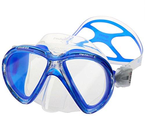 - Mares X-VU Liquid Skin 2 Window Scuba Diving Mask, Clear/Blue