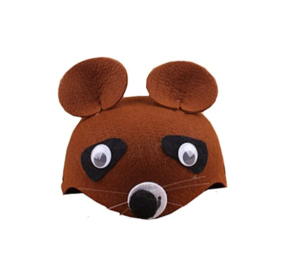 farm animal cartoon kids mask hat for cosplay halloween birthdays theme party costume bear