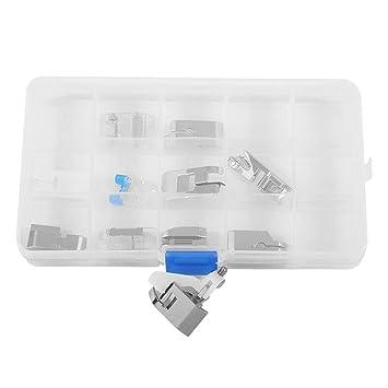 11pcs / set accesorios de la máquina de coser eléctrica doméstica profesional Mini retenedores de pie