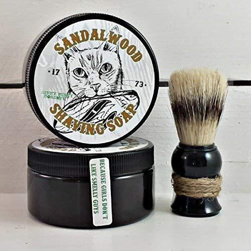 - Sandalwood Shaving Soap | Men's Soap | Masculine Soap | Shaving Soap | Wet Shave | Men's Spa Gift | Shea Butter Soap